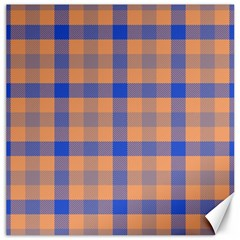 Fabric Colour Orange Blue Canvas 16  x 16