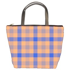 Fabric Colour Orange Blue Bucket Bags