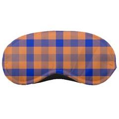 Fabric Colour Orange Blue Sleeping Masks