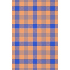 Fabric Colour Orange Blue 5.5  x 8.5  Notebooks