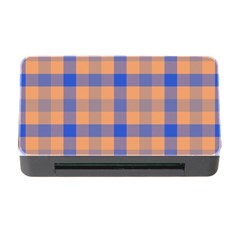 Fabric Colour Orange Blue Memory Card Reader with CF