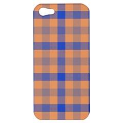 Fabric Colour Orange Blue Apple iPhone 5 Hardshell Case