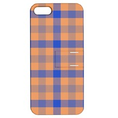 Fabric Colour Orange Blue Apple iPhone 5 Hardshell Case with Stand