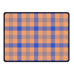 Fabric Colour Orange Blue Double Sided Fleece Blanket (Small)