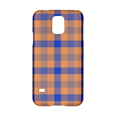 Fabric Colour Orange Blue Samsung Galaxy S5 Hardshell Case