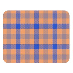 Fabric Colour Orange Blue Double Sided Flano Blanket (Large)