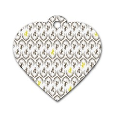 Garden Tree Flower Dog Tag Heart (Two Sides)