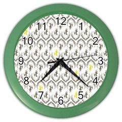 Garden Tree Flower Color Wall Clocks