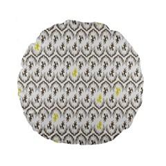 Garden Tree Flower Standard 15  Premium Flano Round Cushions