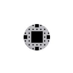 Hole Plaid 1  Mini Buttons