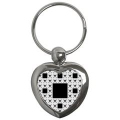 Hole Plaid Key Chains (Heart)