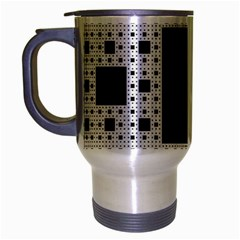 Hole Plaid Travel Mug (Silver Gray)
