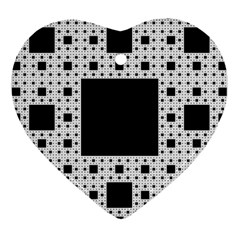 Hole Plaid Heart Ornament (Two Sides)