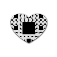 Hole Plaid Rubber Coaster (Heart)