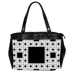Hole Plaid Office Handbags (2 Sides)