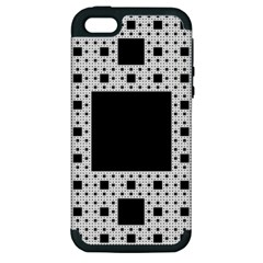 Hole Plaid Apple iPhone 5 Hardshell Case (PC+Silicone)