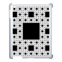 Hole Plaid Apple iPad 3/4 Case (White)