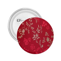 Leaf Flower Red 2.25  Buttons