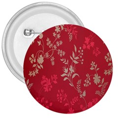 Leaf Flower Red 3  Buttons