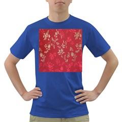 Leaf Flower Red Dark T-Shirt