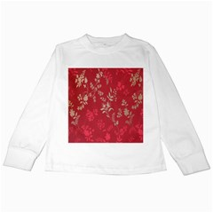Leaf Flower Red Kids Long Sleeve T-Shirts