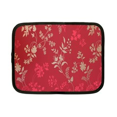 Leaf Flower Red Netbook Case (Small)