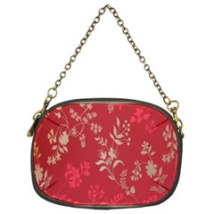 Leaf Flower Red Chain Purses (Two Sides)