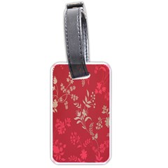 Leaf Flower Red Luggage Tags (Two Sides)