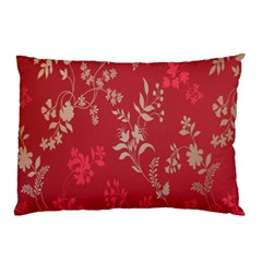 Leaf Flower Red Pillow Case (Two Sides)