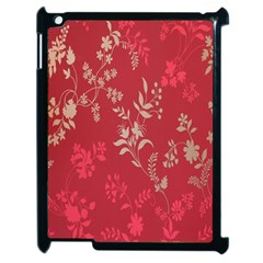 Leaf Flower Red Apple iPad 2 Case (Black)