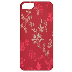 Leaf Flower Red Apple iPhone 5 Classic Hardshell Case
