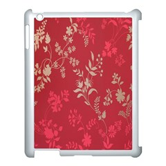 Leaf Flower Red Apple iPad 3/4 Case (White)