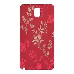 Leaf Flower Red Samsung Galaxy Note 3 N9005 Hardshell Back Case