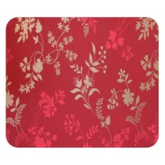 Leaf Flower Red Double Sided Flano Blanket (Small)