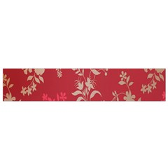 Leaf Flower Red Flano Scarf (Small)