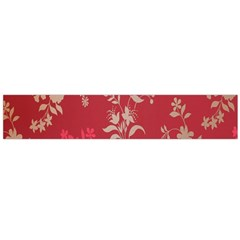 Leaf Flower Red Flano Scarf (Large)