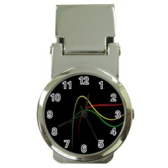 Line Red Yellow Green Money Clip Watches