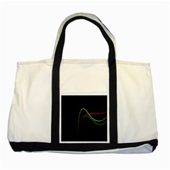 Line Red Yellow Green Two Tone Tote Bag