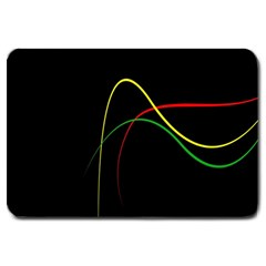 Line Red Yellow Green Large Doormat