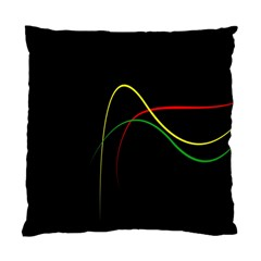 Line Red Yellow Green Standard Cushion Case (Two Sides)