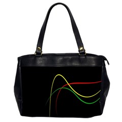 Line Red Yellow Green Office Handbags (2 Sides)