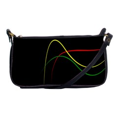 Line Red Yellow Green Shoulder Clutch Bags
