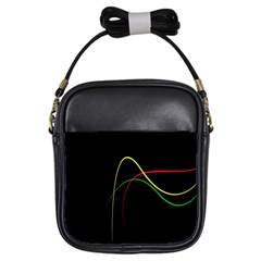 Line Red Yellow Green Girls Sling Bags