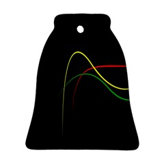 Line Red Yellow Green Ornament (Bell)