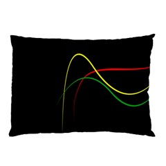 Line Red Yellow Green Pillow Case (Two Sides)