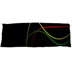 Line Red Yellow Green Body Pillow Case (Dakimakura)