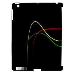 Line Red Yellow Green Apple iPad 3/4 Hardshell Case (Compatible with Smart Cover)