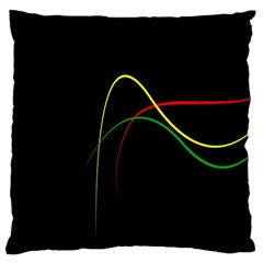 Line Red Yellow Green Large Cushion Case (Two Sides)