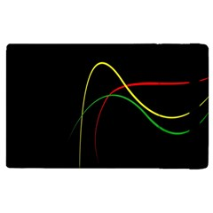 Line Red Yellow Green Apple iPad 3/4 Flip Case