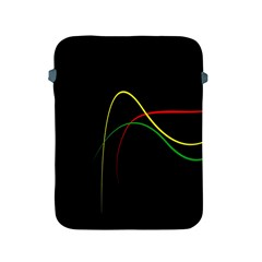 Line Red Yellow Green Apple iPad 2/3/4 Protective Soft Cases